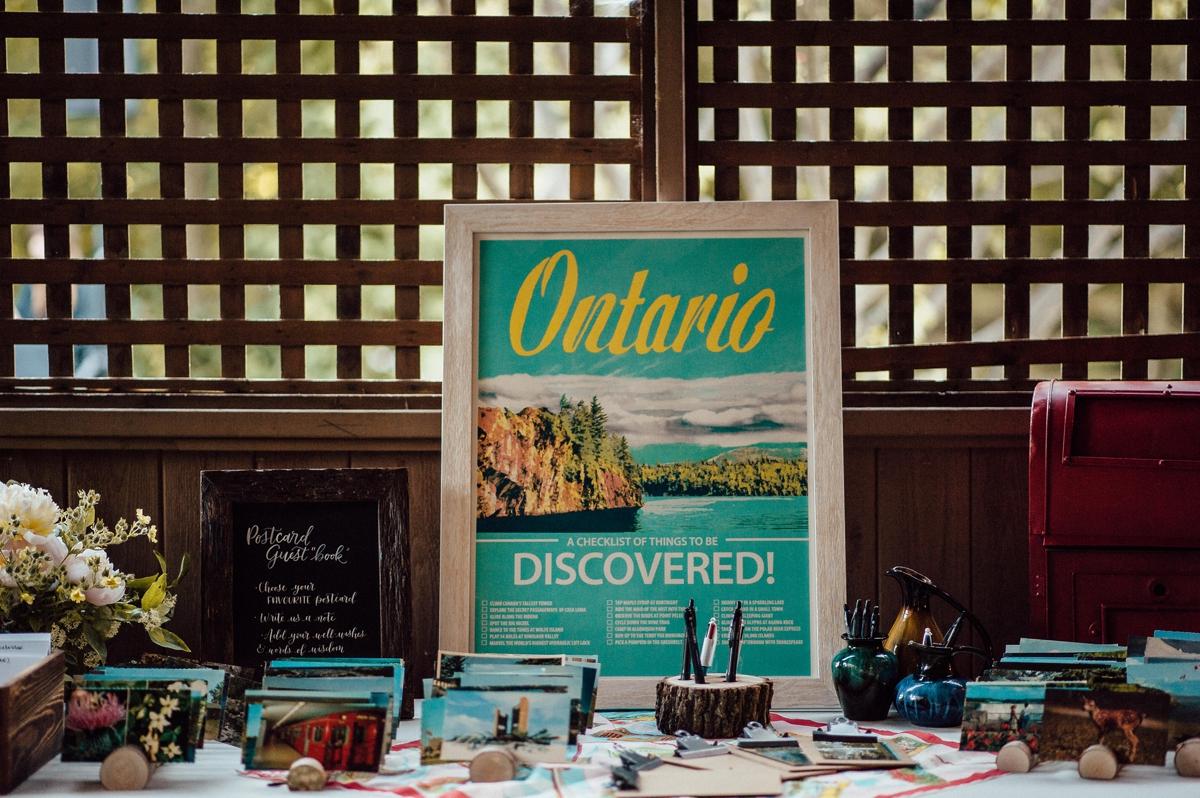 Toronto wedding creative guestbook