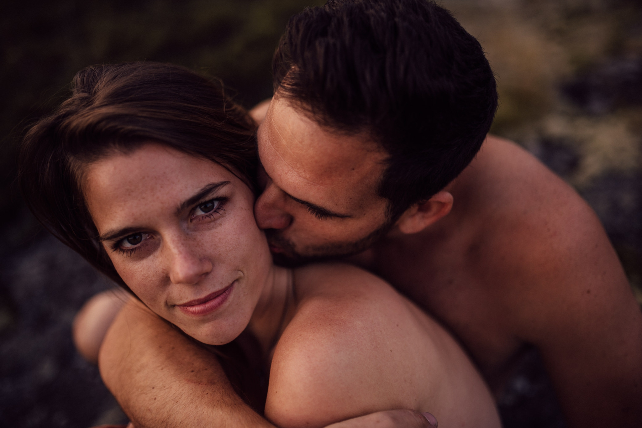 Magical nude engagement session