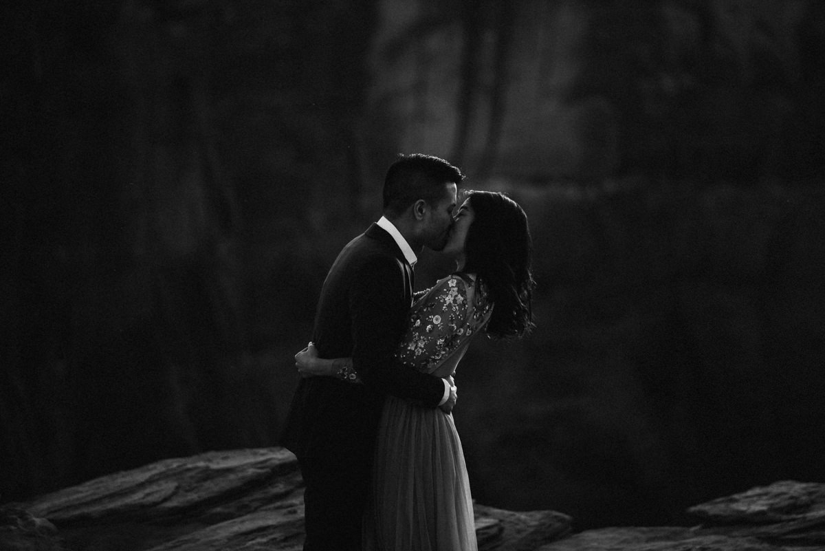 dark and moody horseshoe bend engagement