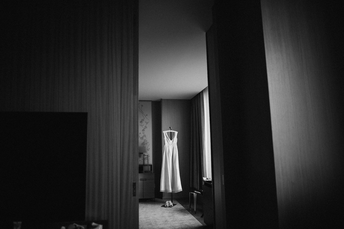 Artistic photo of wedding dress