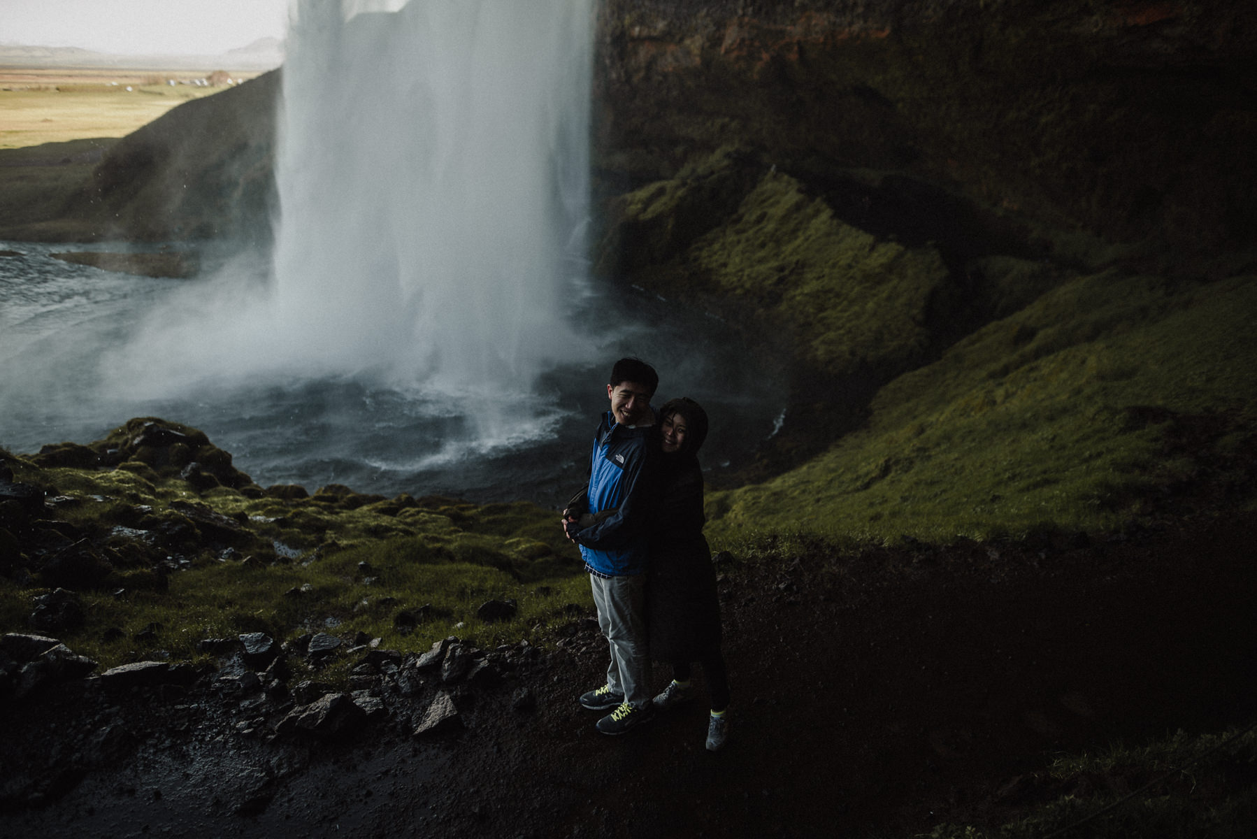 Engagement session at seljalandsfoss
