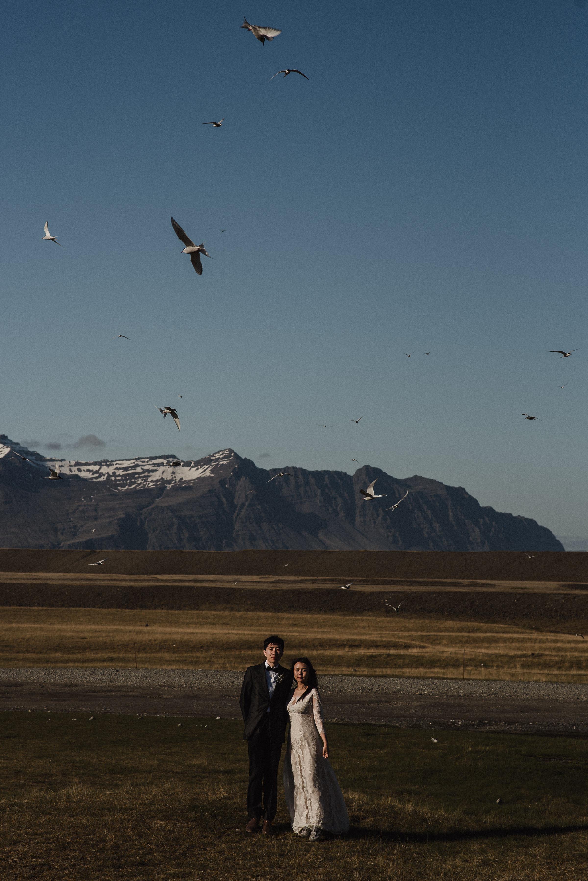 adventurous couple in Iceland