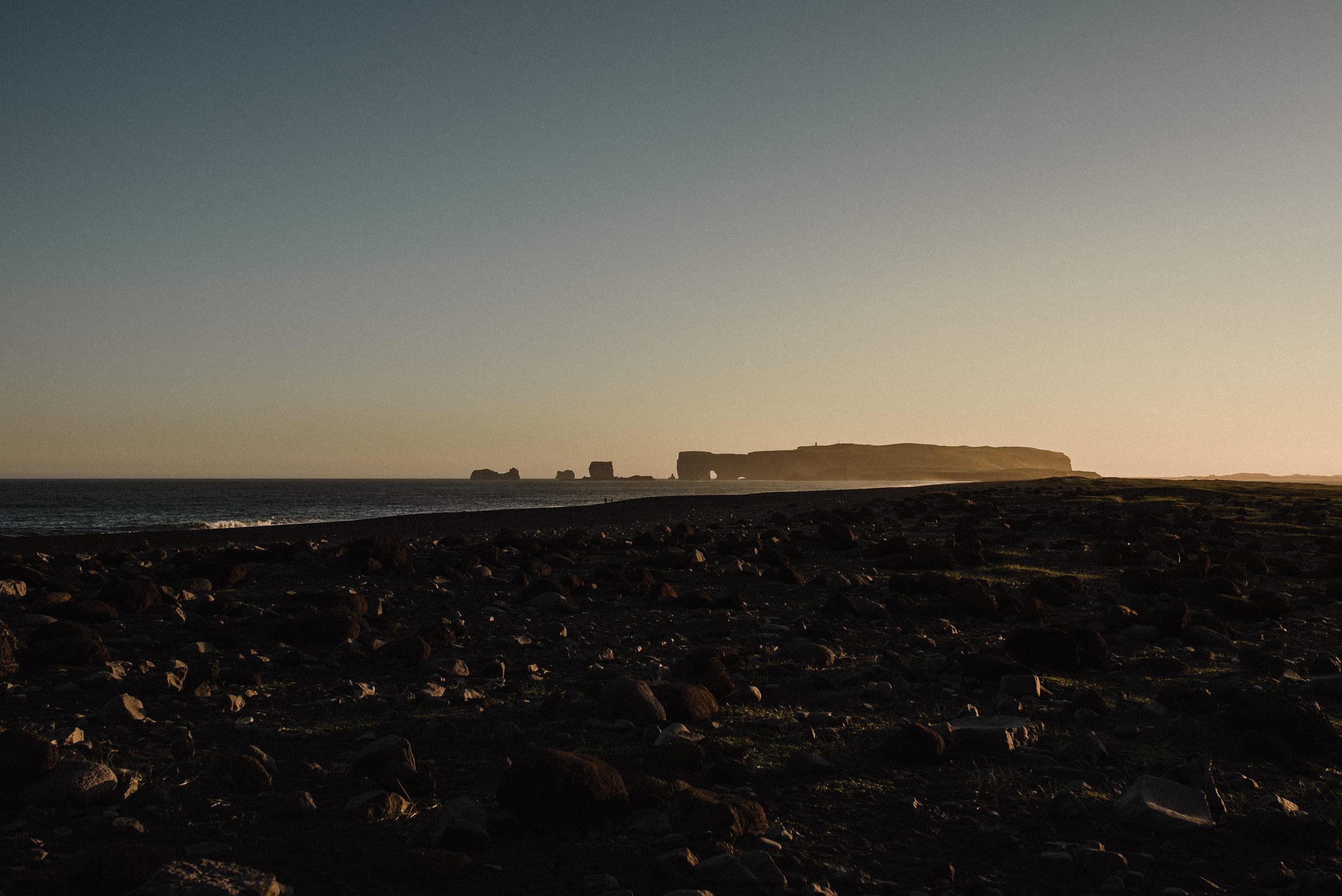 sunset elopement at vik iceland