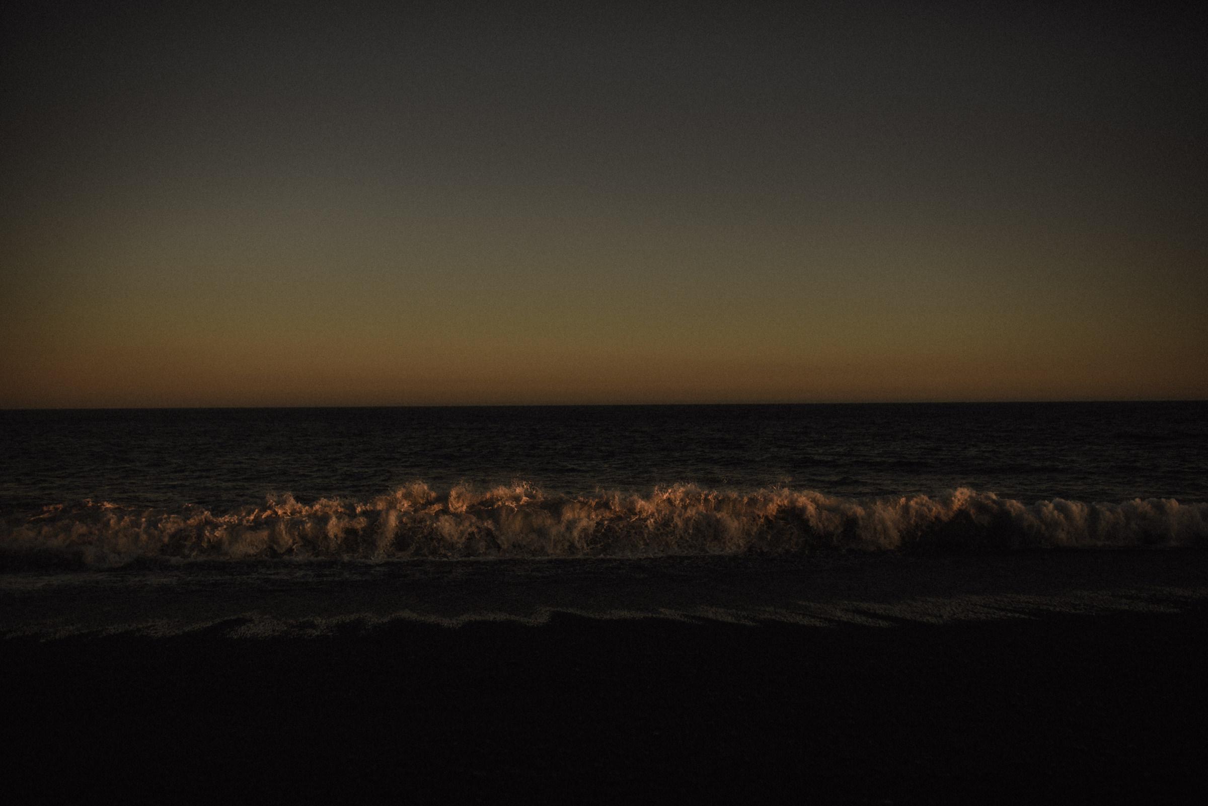 Vibrant sunset at vik beach