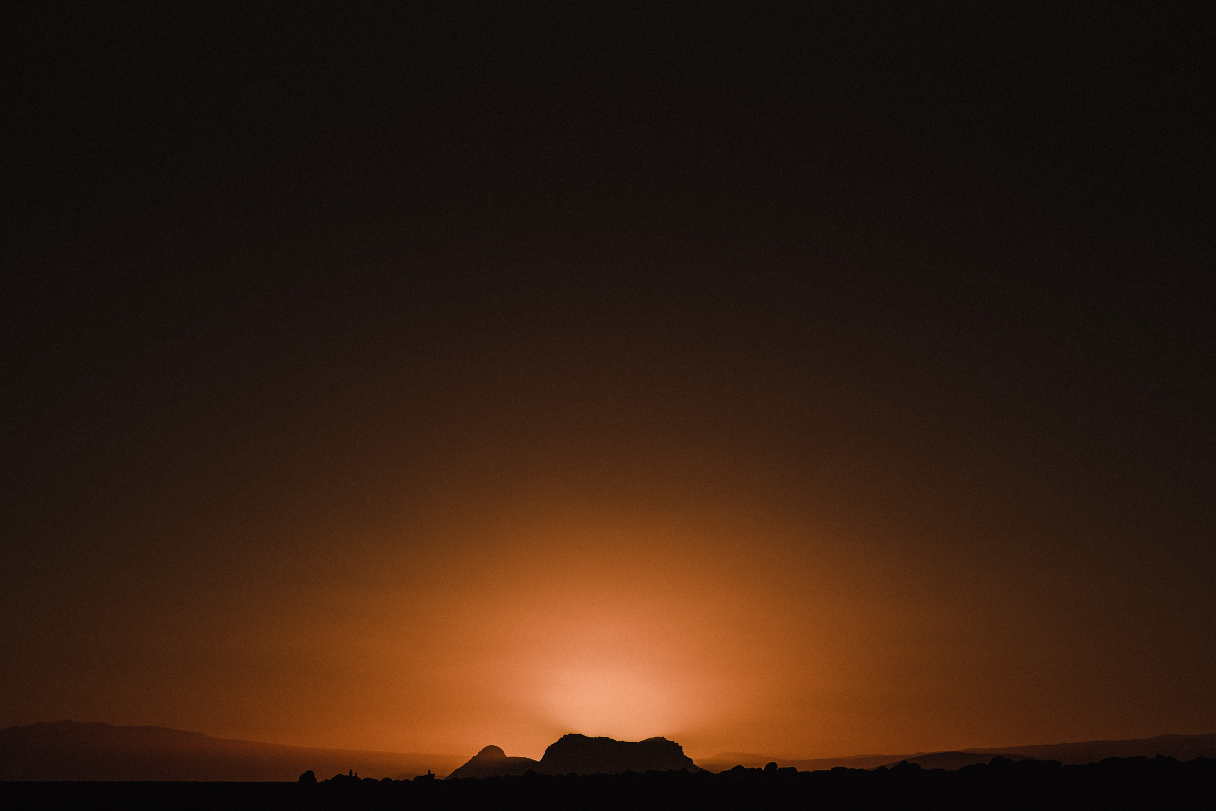 vik iceland orange sunset
