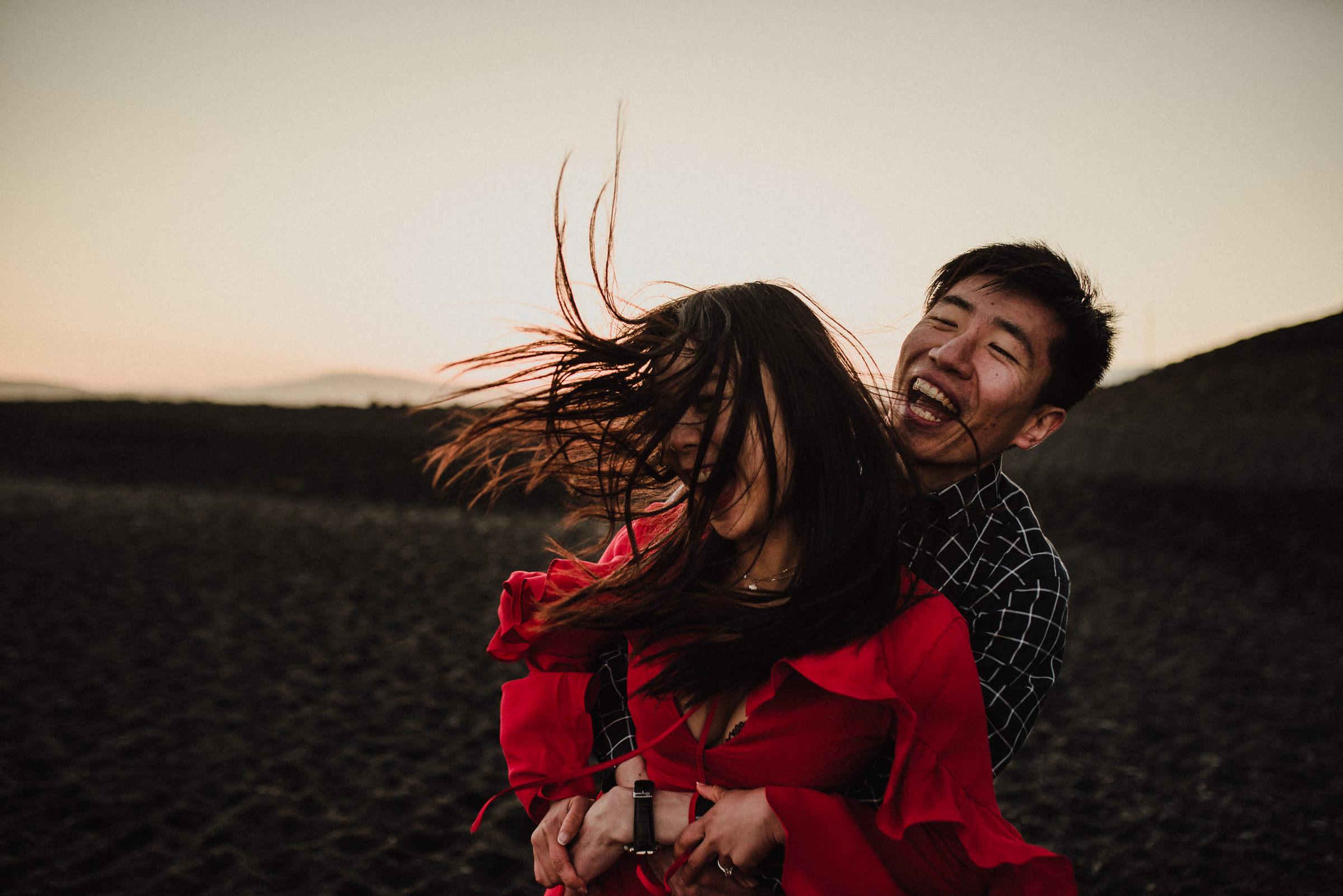 romantic vik beach elopement