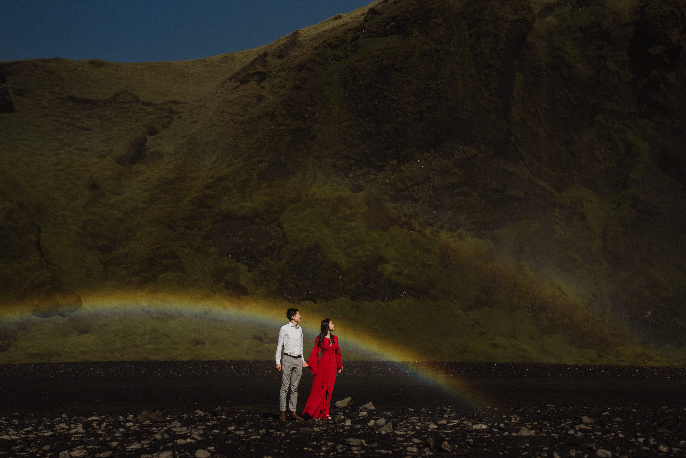 double rainbow iceland