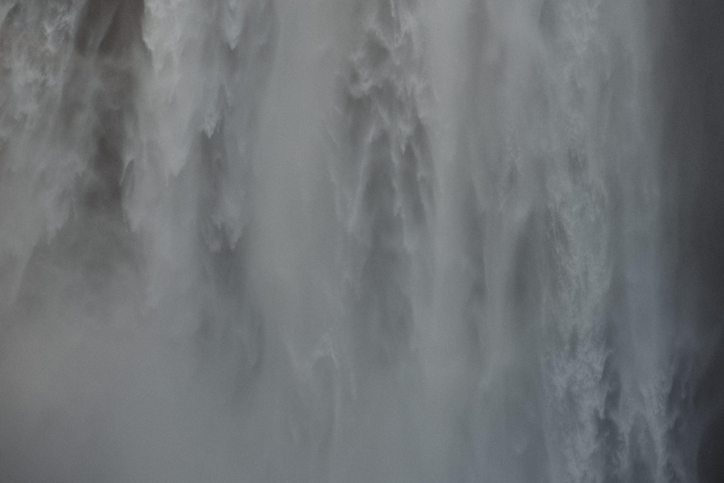 huge iceland waterfall