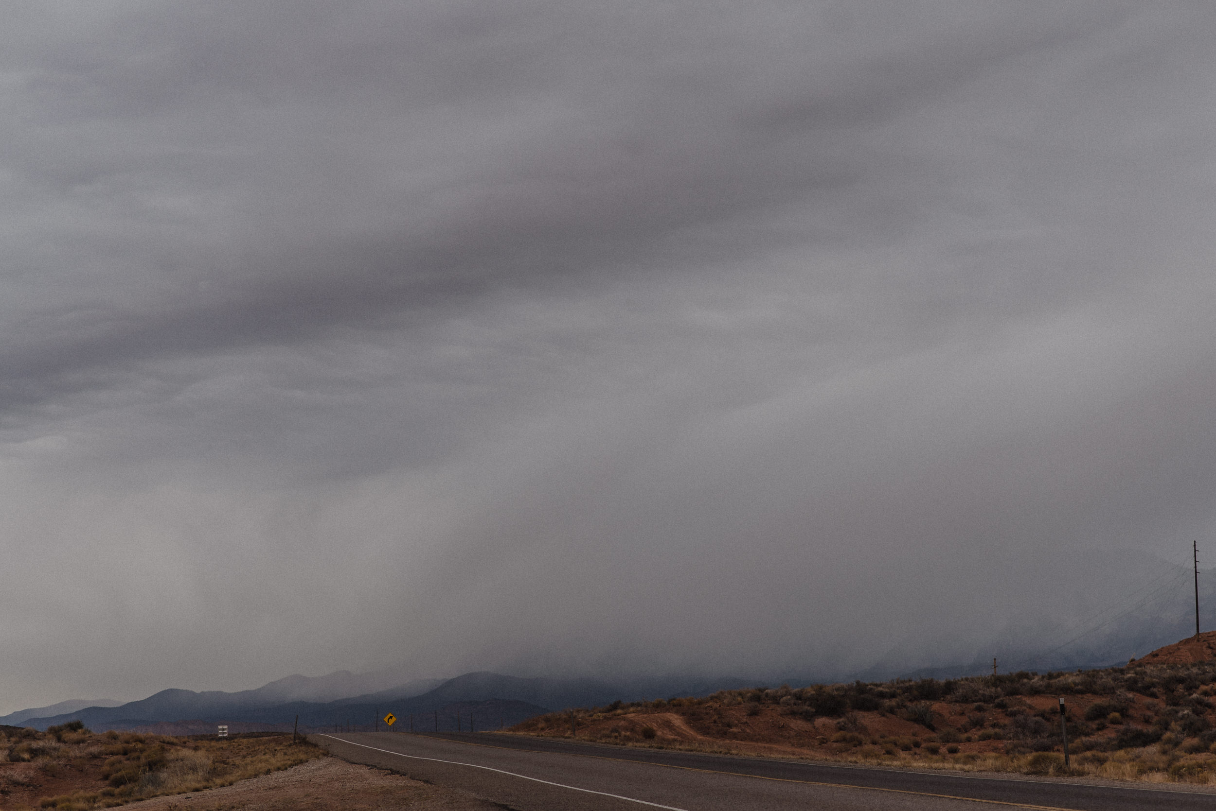 stormy weather in zion national park