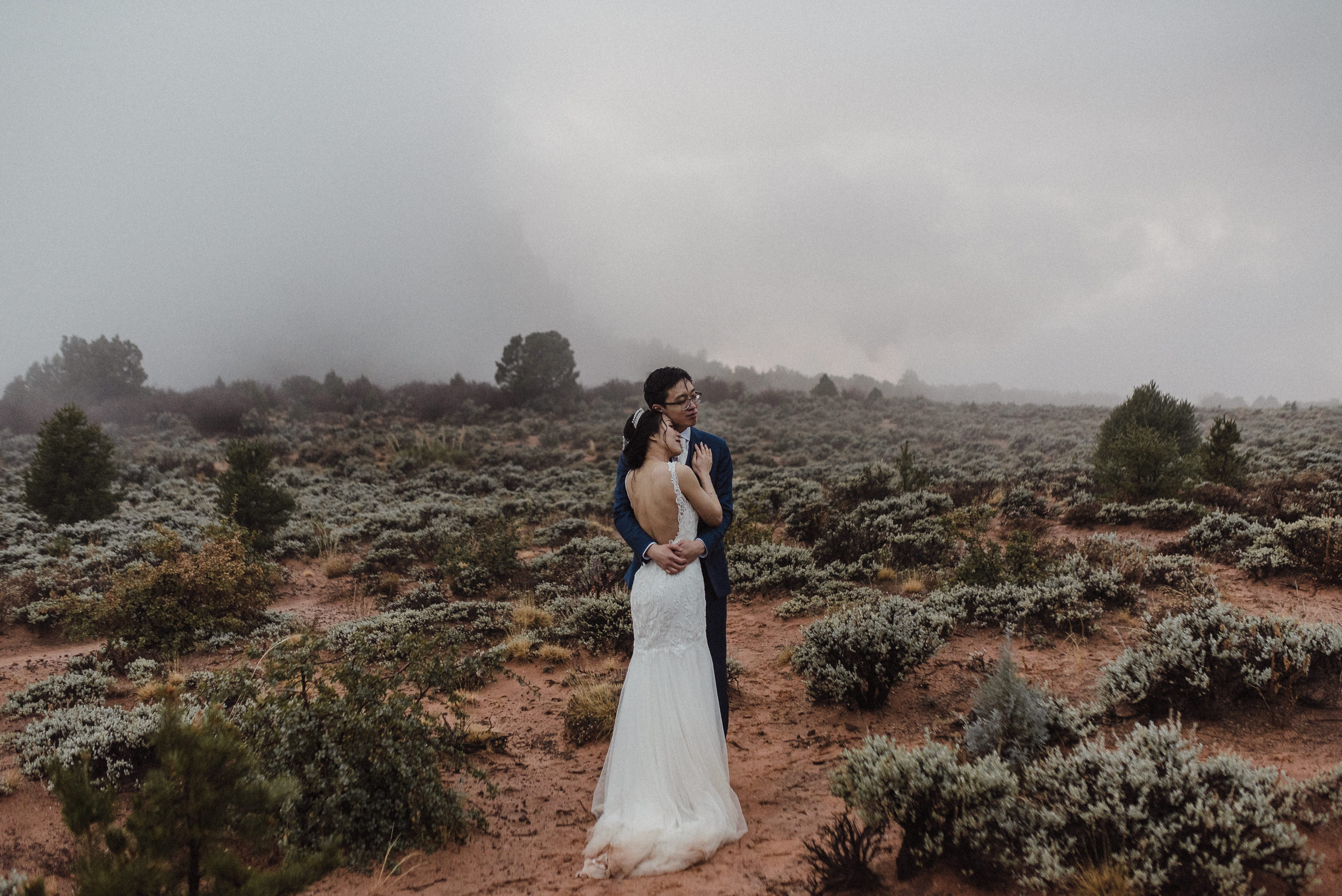 outdoor wedding ceremony in zion