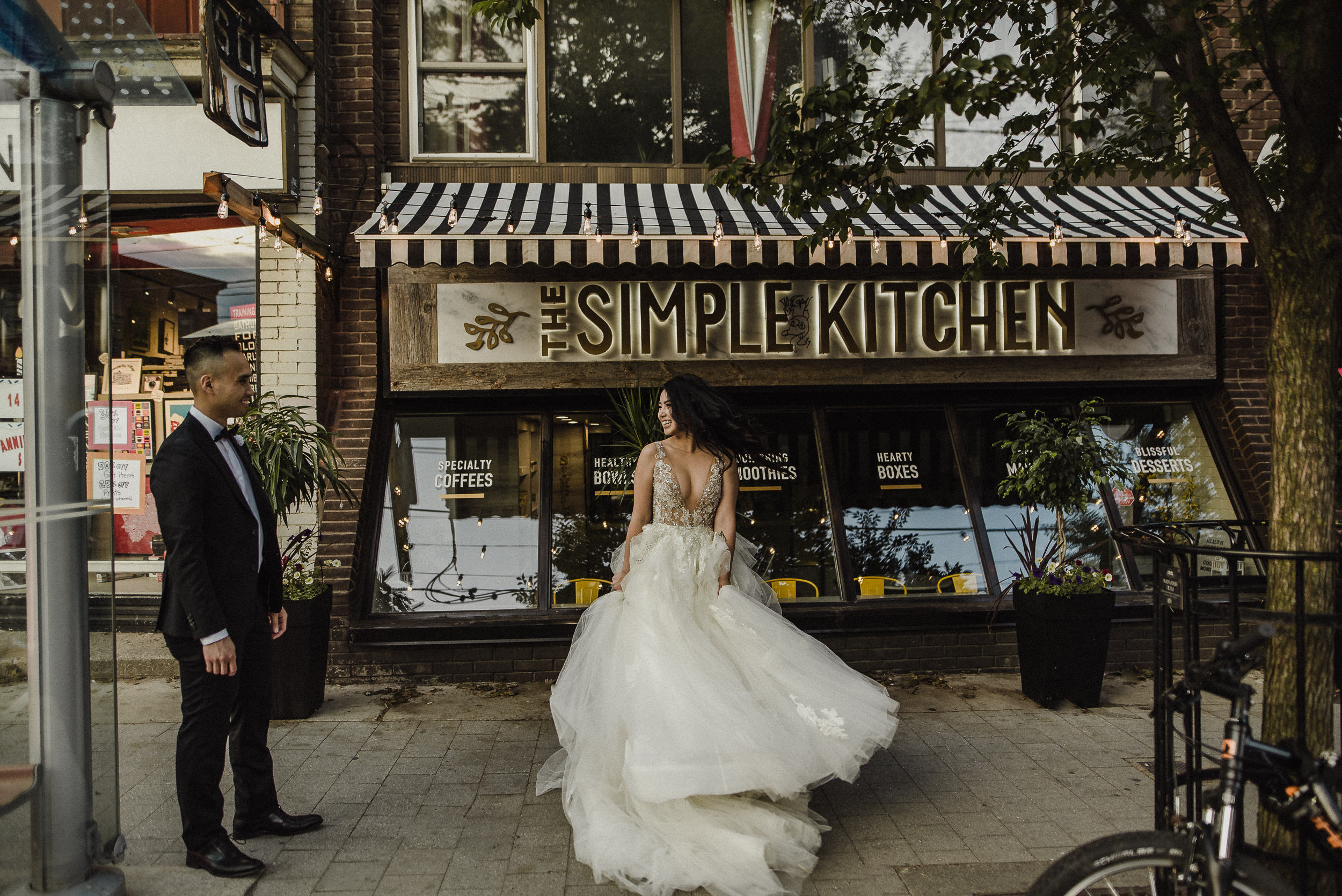 artistic high park wedding photography