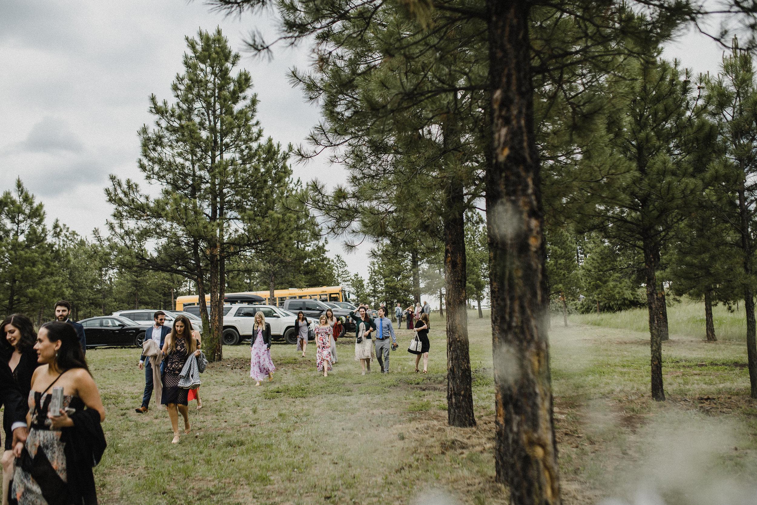 Summer star ranch wedding reception in Montana