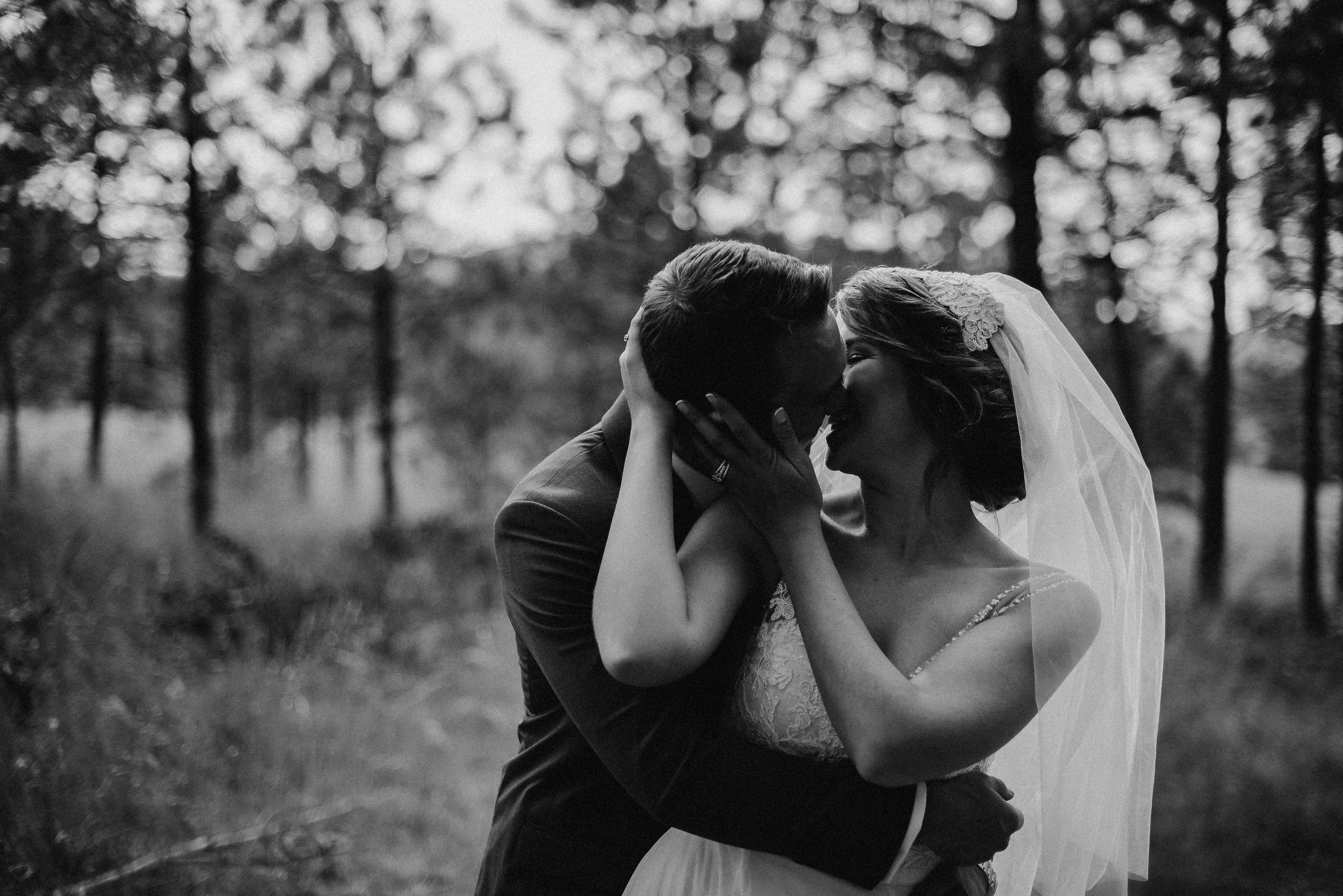 Forest background at Summer Star Ranch Wedding