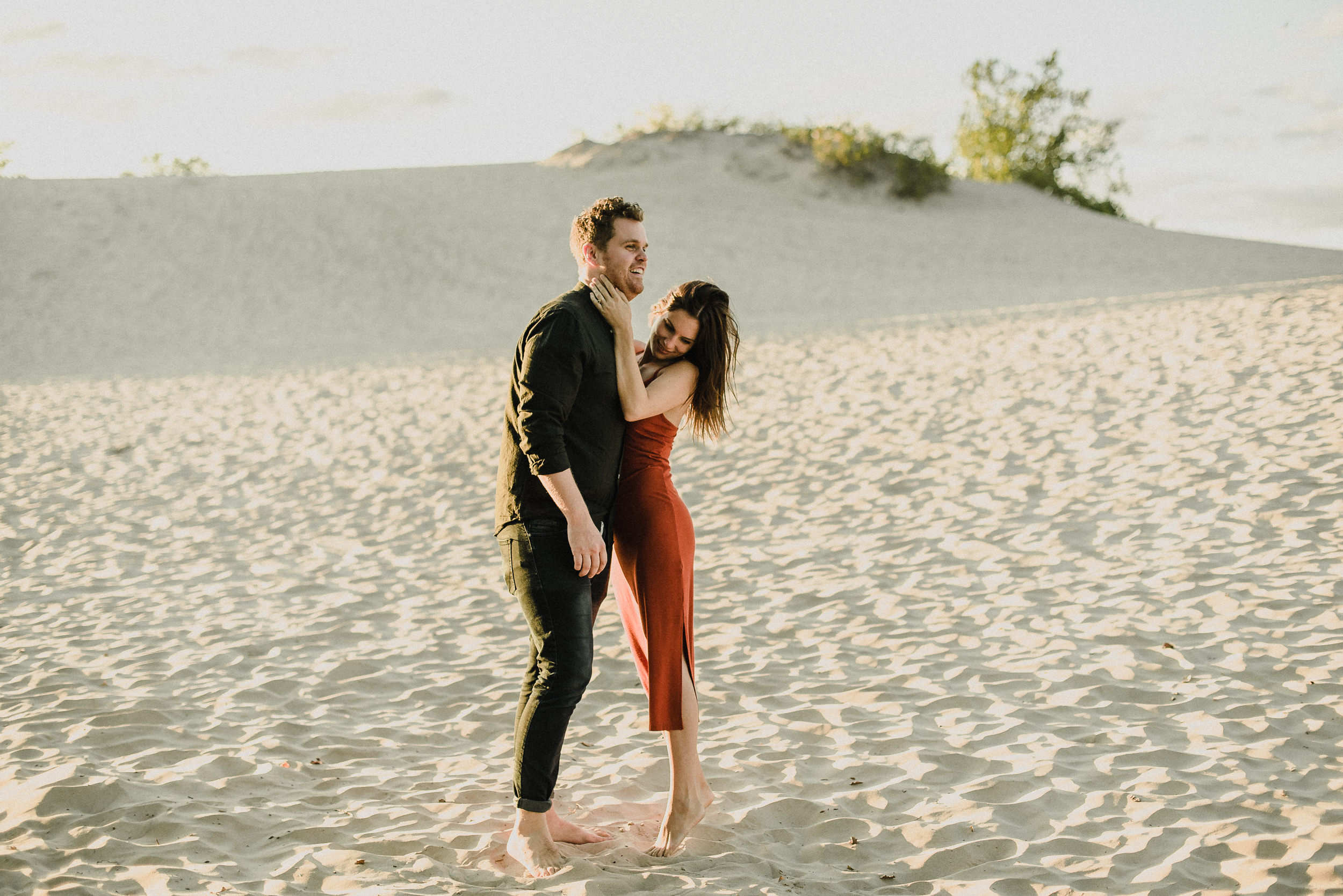 romantic sunset photos at sandbanks provincial park PEC