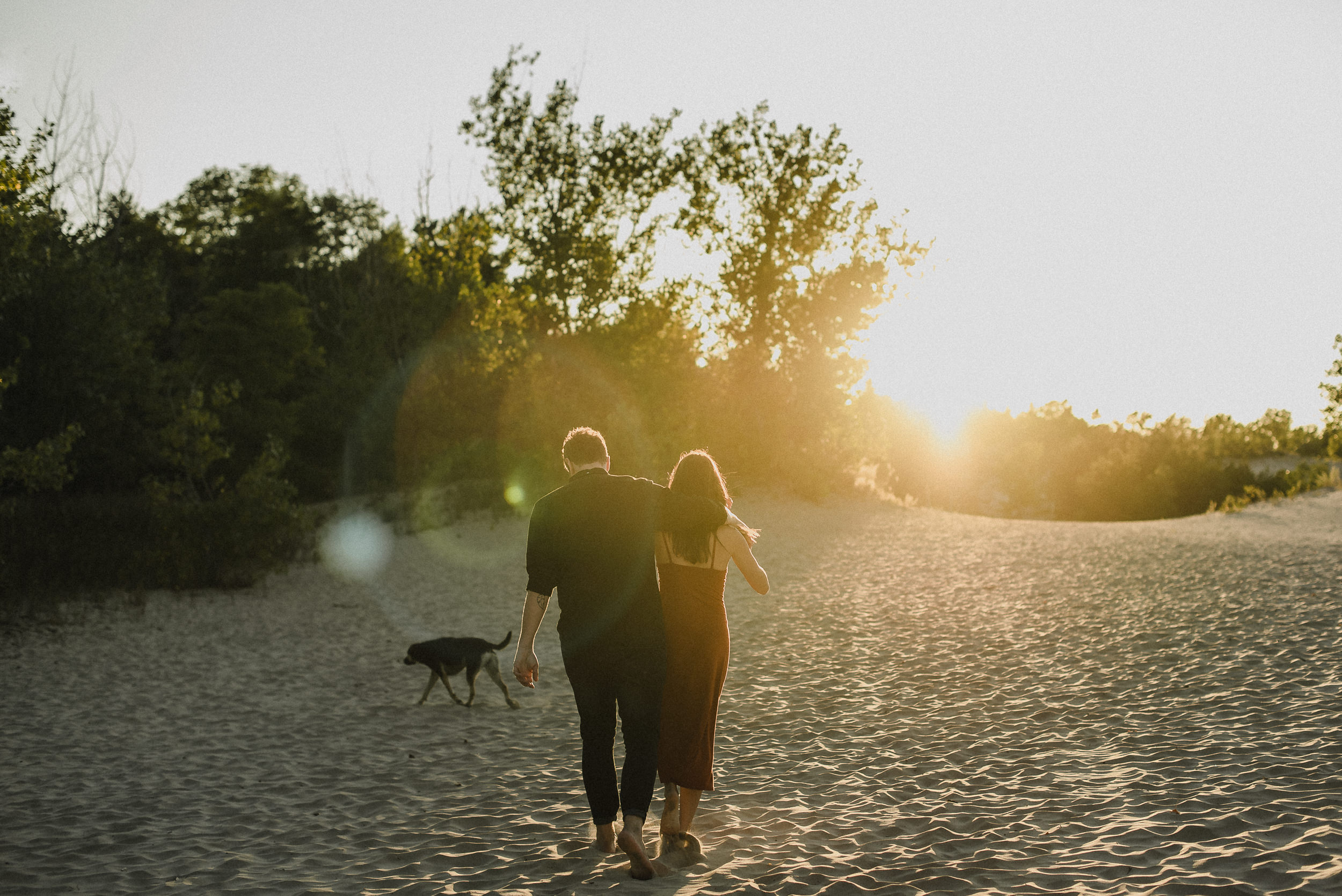 romantic engagement session with cute puppy in PEC