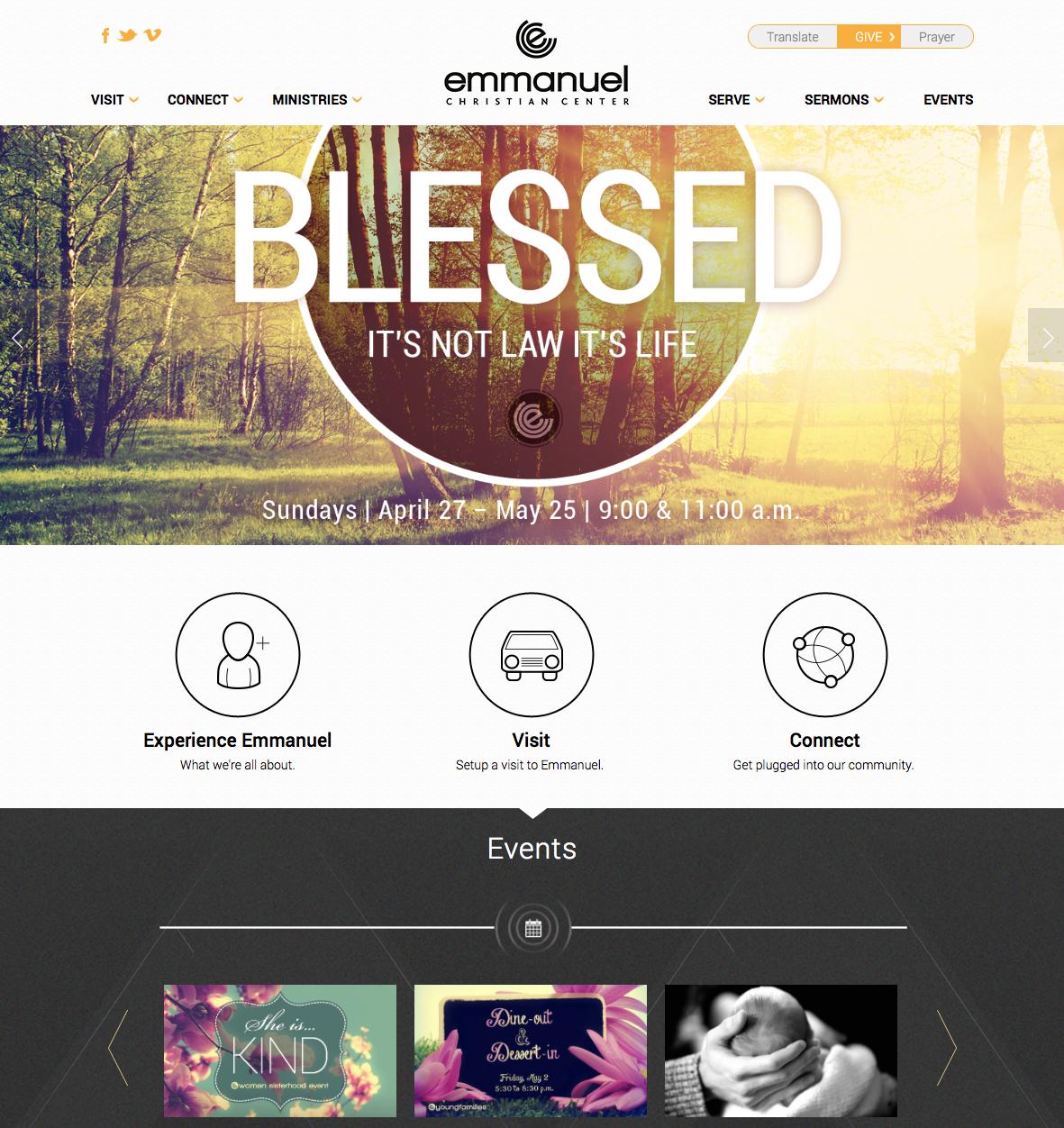 Church Website Design Examples Custom Church Website