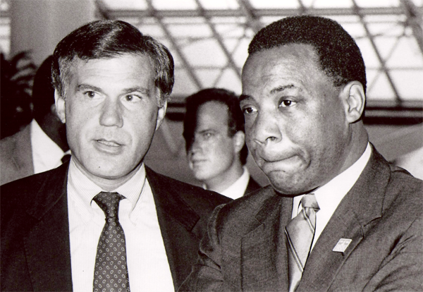 Steve Cabot with the First African-American Mayor for the City of Philadelphia, W. Wilson Goode
