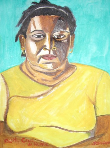 BETTY CRUZ    2002,  local Belizean woman from Bullet Tree Falls, Belize, Central America. When I was fifteen I spent one month in Belize doing community service with Interlocken Global Roots and stayed with Betty and her family who soon became a second family to me as well. I stayed in touch with that family for years to come after.  ARTIST'S COLLECTION    Watercolor on paper