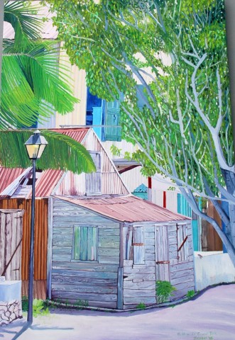 GRAND TURK  2003  , Inspired by one of my brother's photos from Grand Turk, Turks and Caicos. SOLD    Oil on Canvas