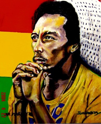 MR. MARLEY  2004,   perhaps my first muse . . . o.k. I hate to admit it, but that was really Brad Pitt when I was fifteen and I saw Legends of the Fall over and over again.  GIFT TO JANE      Oil pastel on paper