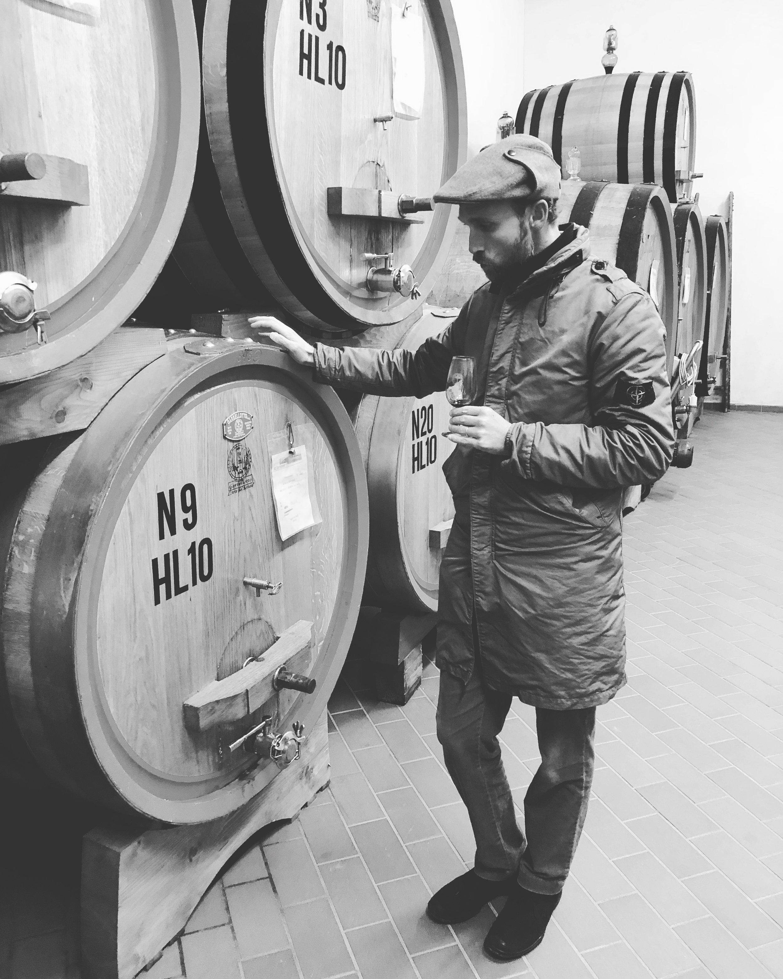 Barrel Tasting Brunello di Montalcino at  La Fornace Winery