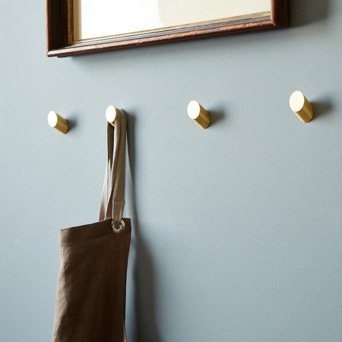 Brass Round Wall Hooks, Set of (4) via  Food52  ($180)