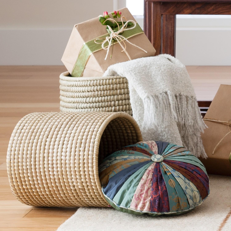 Small Kaisa Basket Planter via  Ten Thousand Villages  ($18)