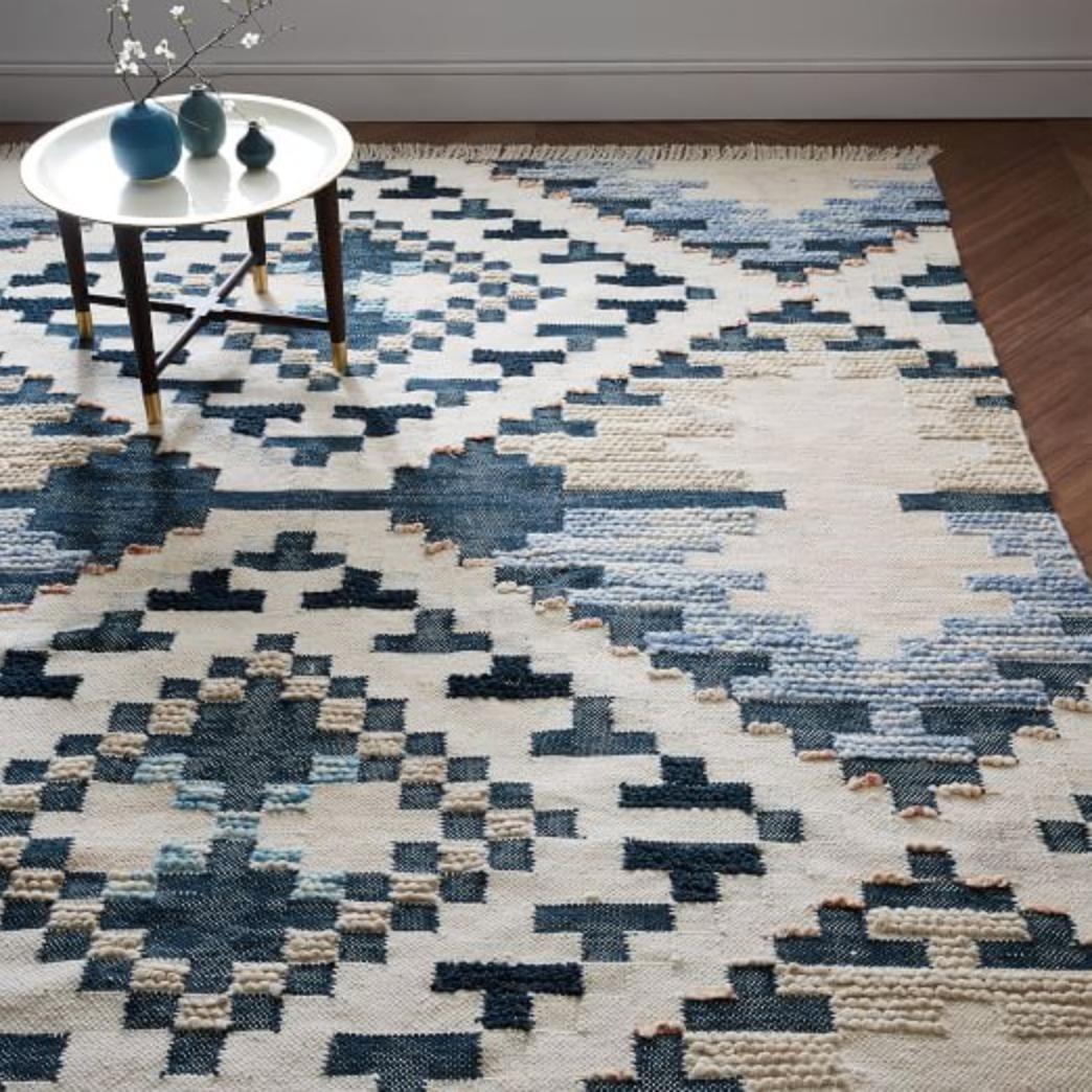 Checkerboard Diamond Wool Dhurrie via  West Elm  (8x10 $799 | 9x12 $1,119)