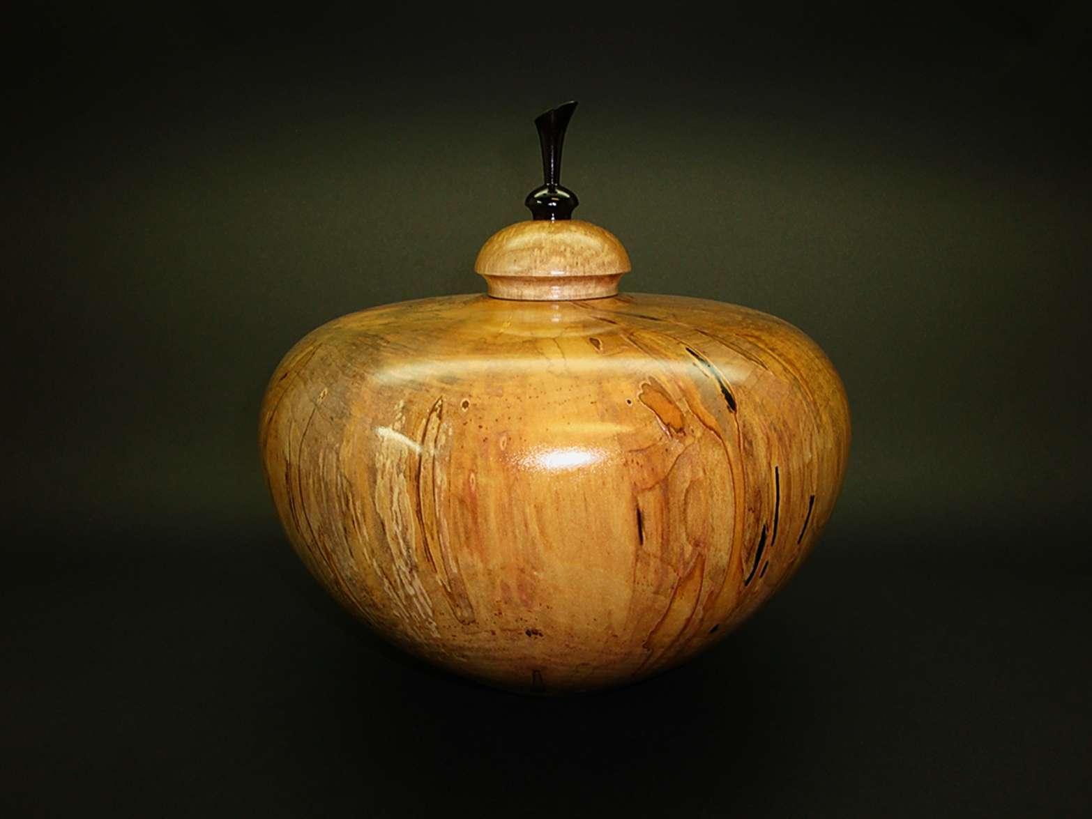 Urn - Spalted Ambrosia Maple-Ebony 01.jpg