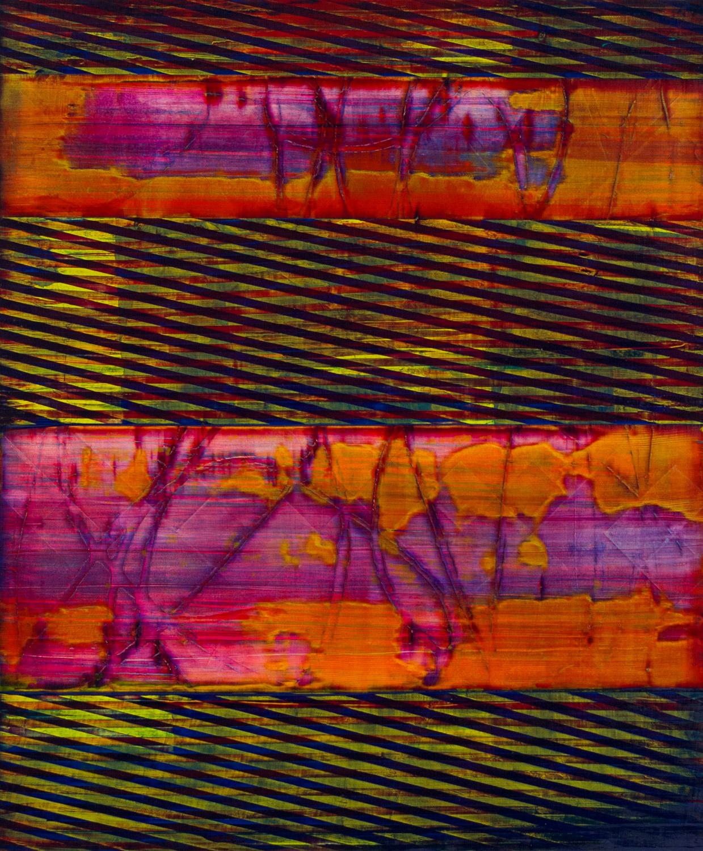 """counter cross   2016  acrylic on panel  36"""" x 24"""""""