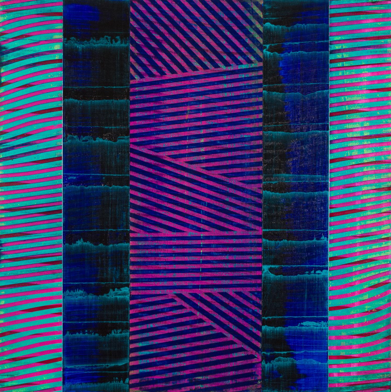 "tuned, too   2017  acrylic on panel  24"" x 24"""