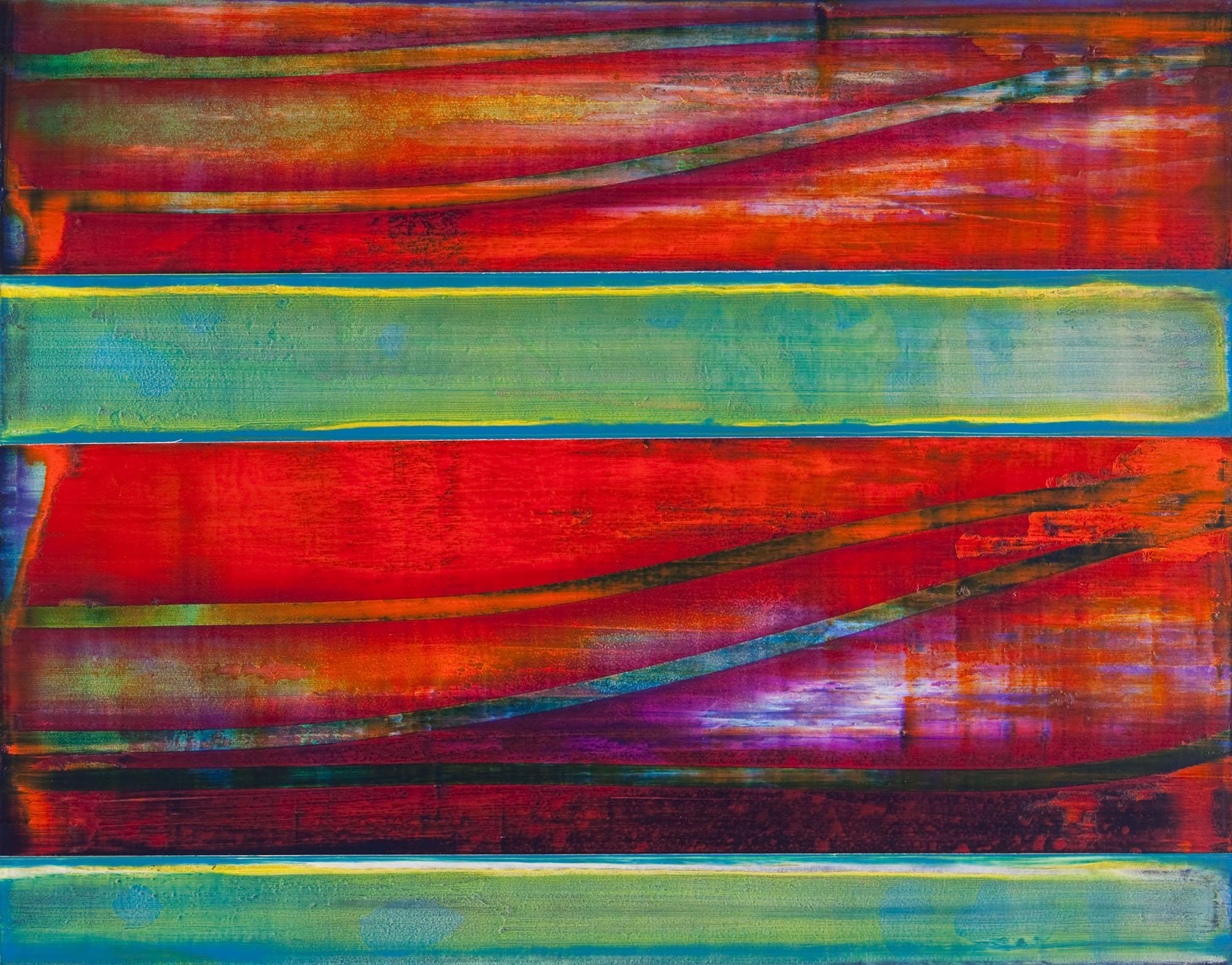 "cay   2014  acrylic on panel  11"" x 14"""