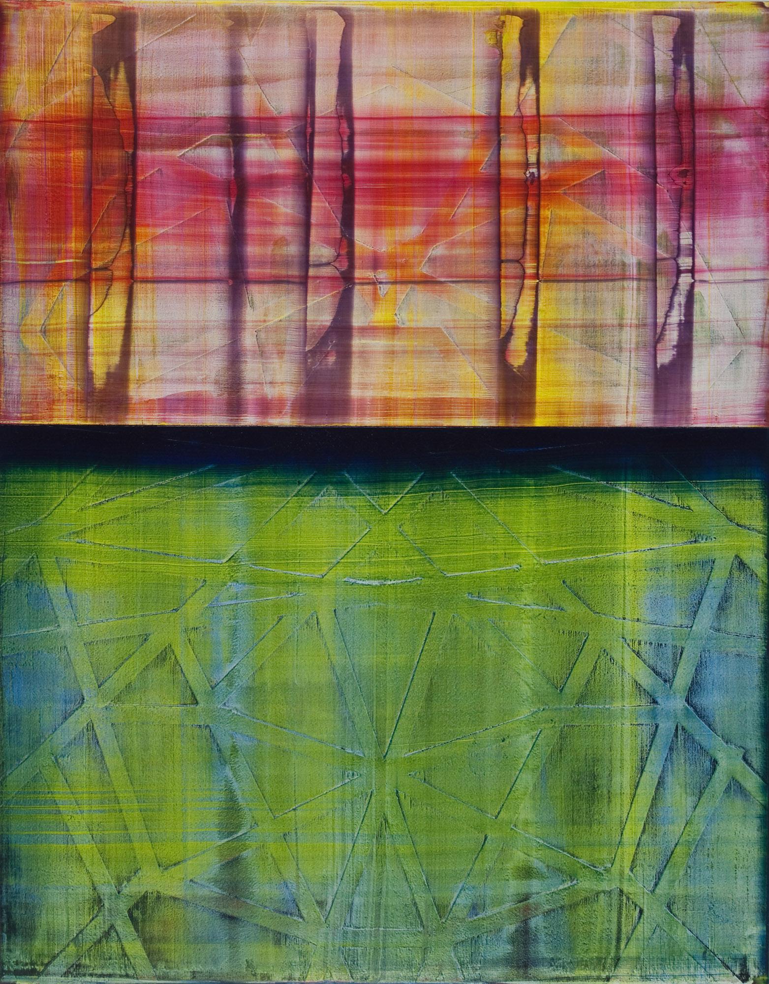 "chromatic   2014  acrylic on panel  14"" x 11"""