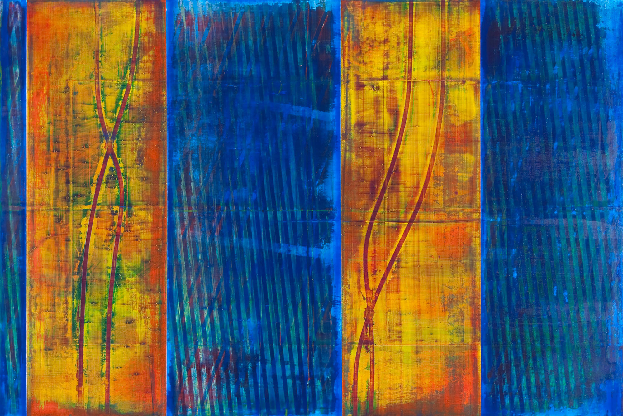 "lapel   2014  acrylic on panel  24"" x 36"""