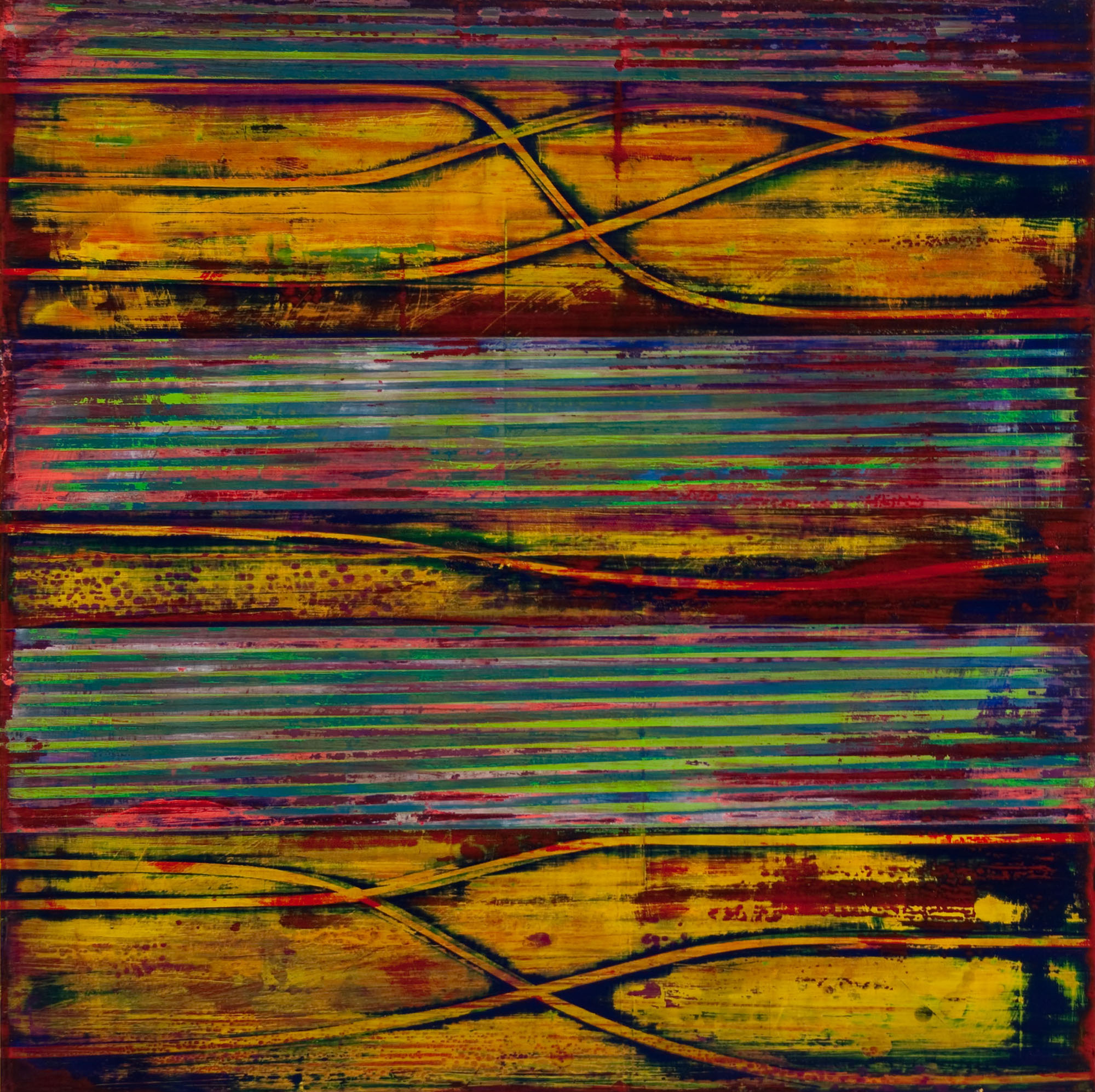 "perihelion   2014  acrylic on panel  24"" x 24"""