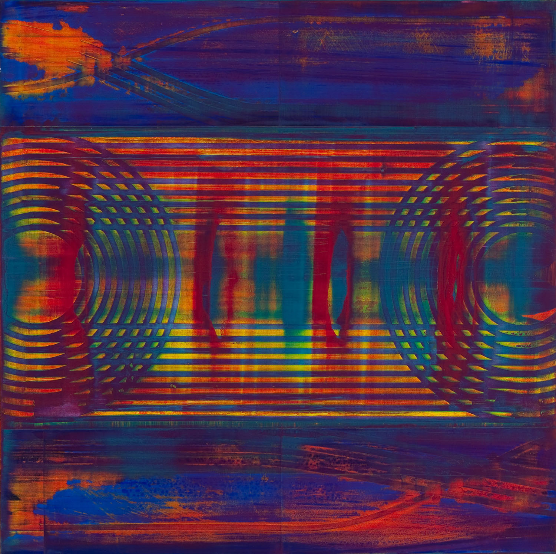 """intercept method   2014  acrylic on panel  24"""" x 24"""""""