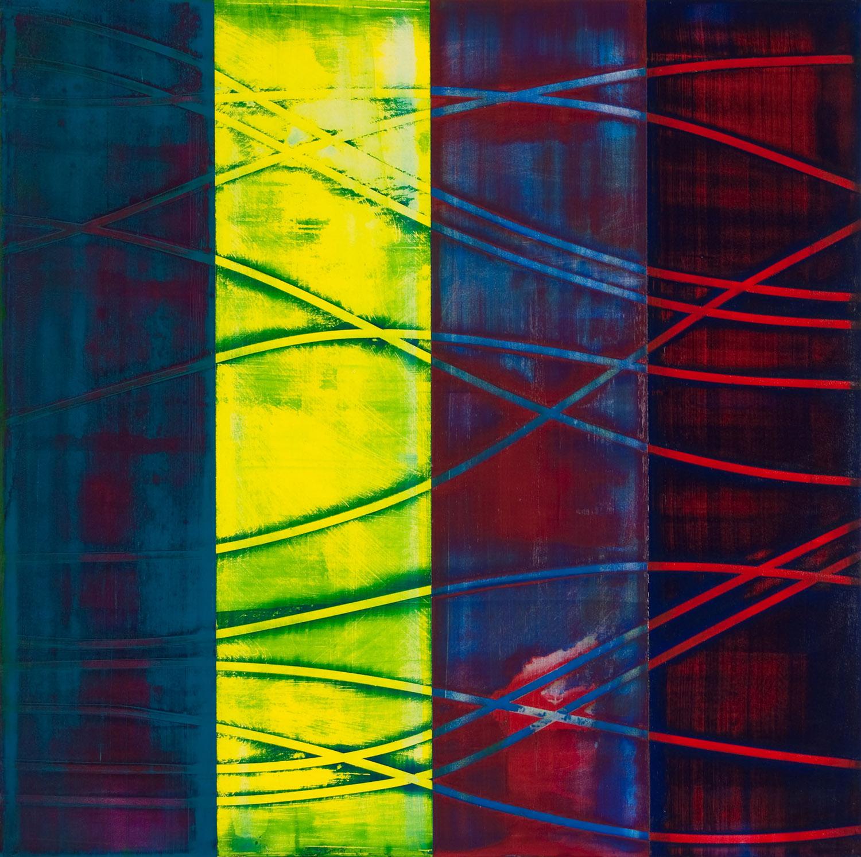 "superluminal   2014  acrylic on panel  24"" x 24"""