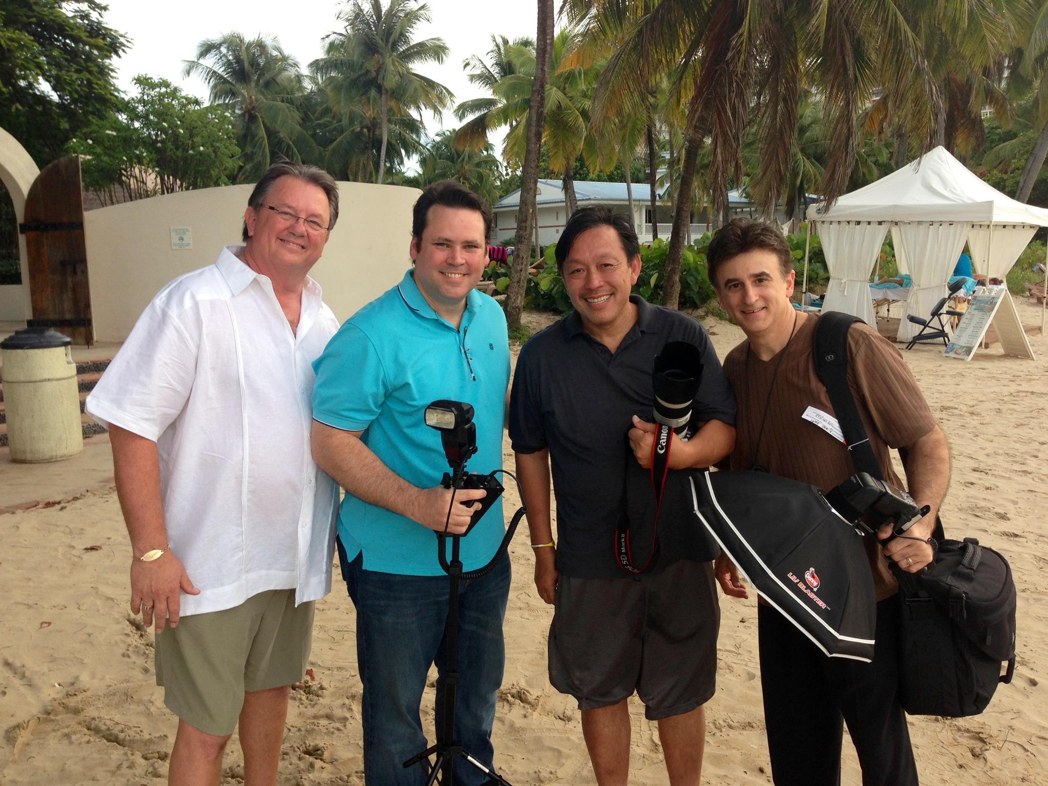 Ralph Romaguera, President PPA, Luis Alicea Caldas, Hanson Fong, International Photographer Micheal J. Jacksonville Photographer