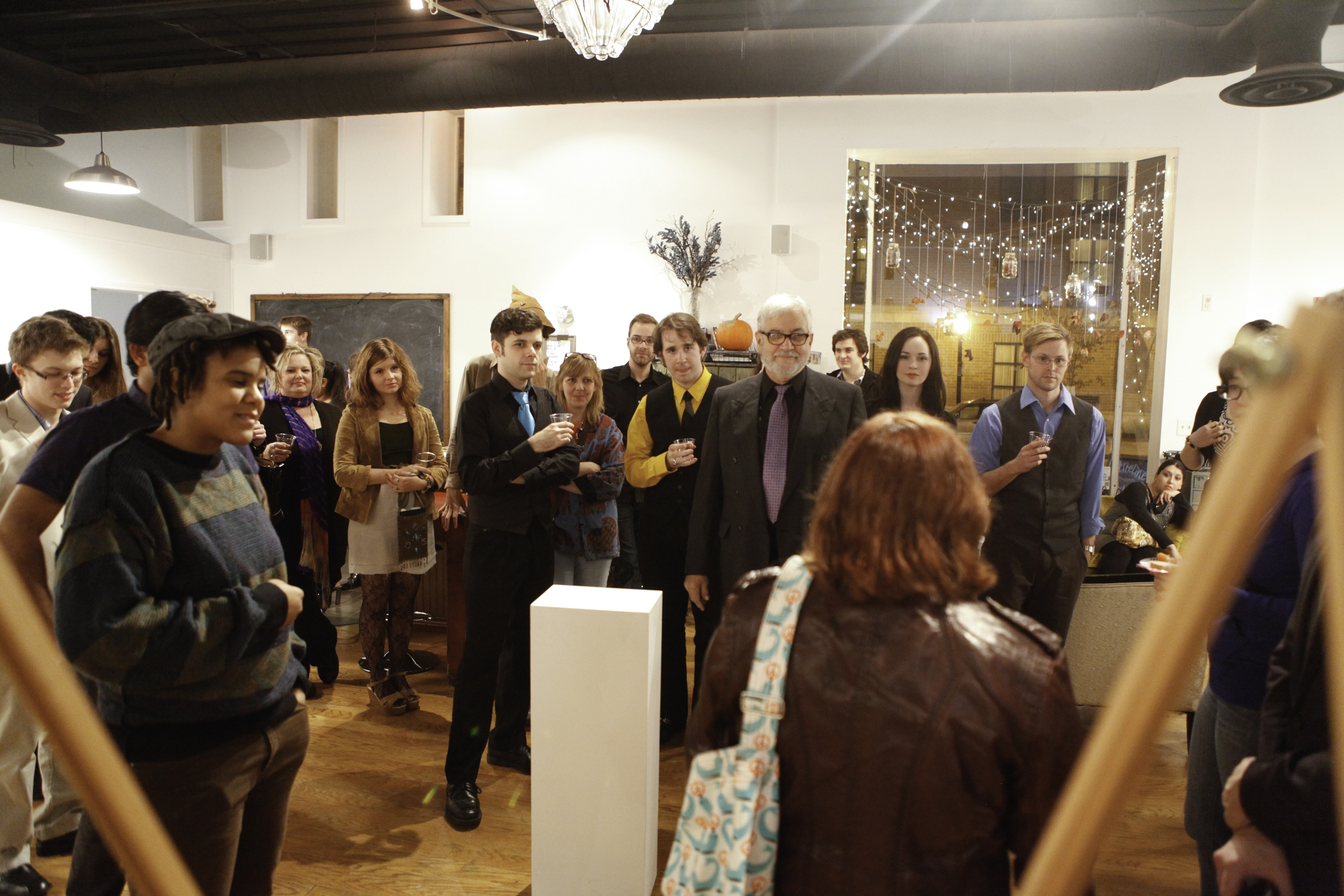 "Photo from November's ""Wine & Sign"" at Blueline Creative Co-op."