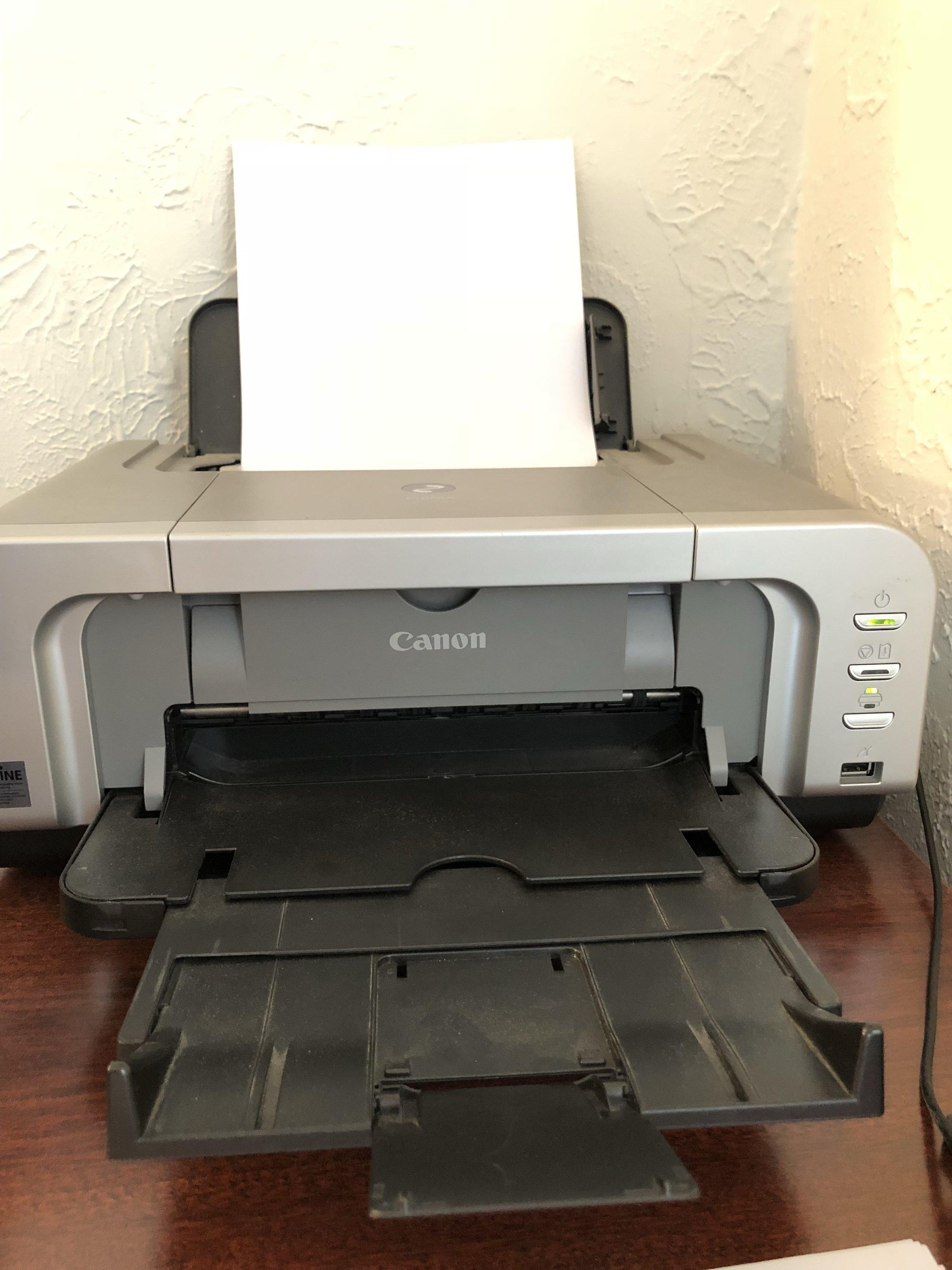 My beloved printer: a Canon Pixma iP4200