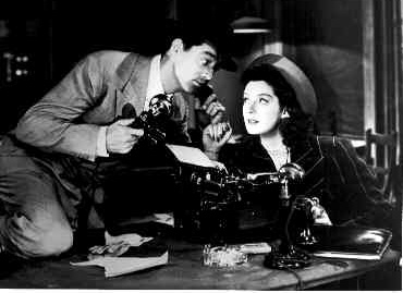 Cary Grant and Rosalind Russell from His Girl Friday (dir. Howard Hawks, USA, 1941)