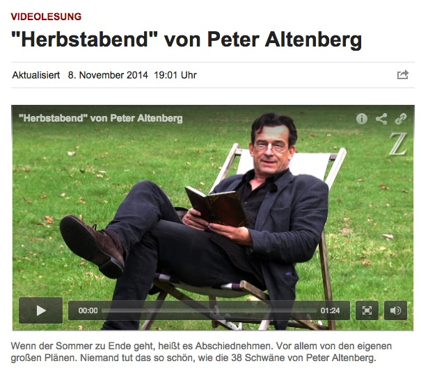 """Thomas Sarbacher liest """"Herbstabend von Peter Altenberg"""