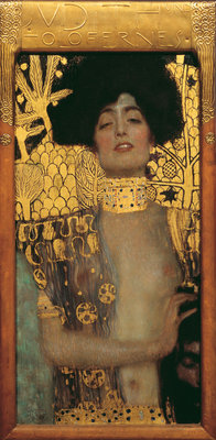 Gustav Klimt, Judith, 1901  Öl und Goldauflage auf Leinwand 84 x 42 cm