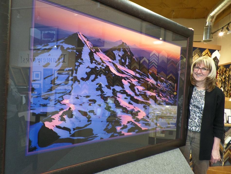 Signed Original Mike Putnam photograph with custom framing donated by Myrna Dow of High Desert Frameworks!