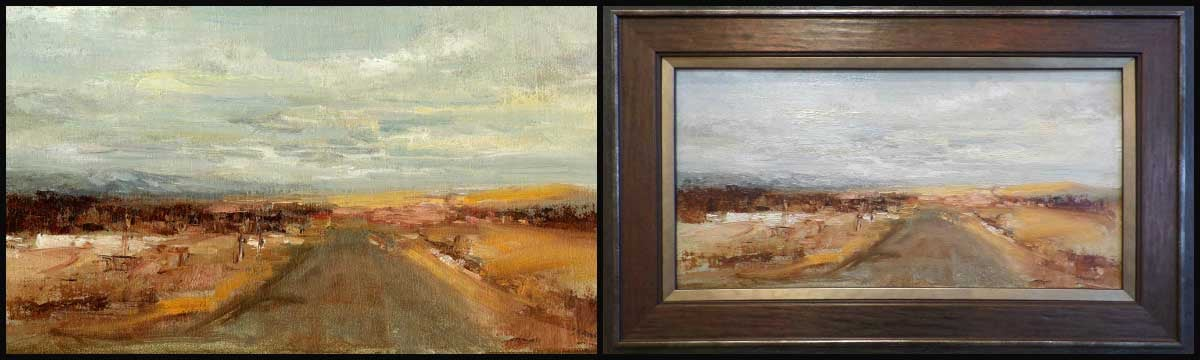 """Driving Home"" - Original Oil by Sue Favinger Smith"