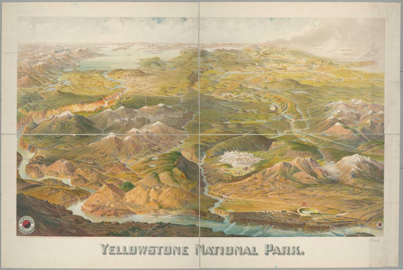 Yellowstone National Park Map - 1904
