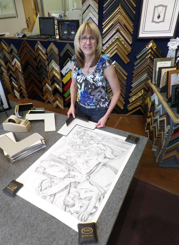 Fine Art Print by Gertrude Kearns. Myrna Dow of High Desert Frameworks considers custom framing options.