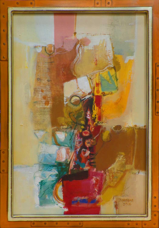 Fine Art Original painting framed by High Desert Frameworks - Atomic Frames metal moulding