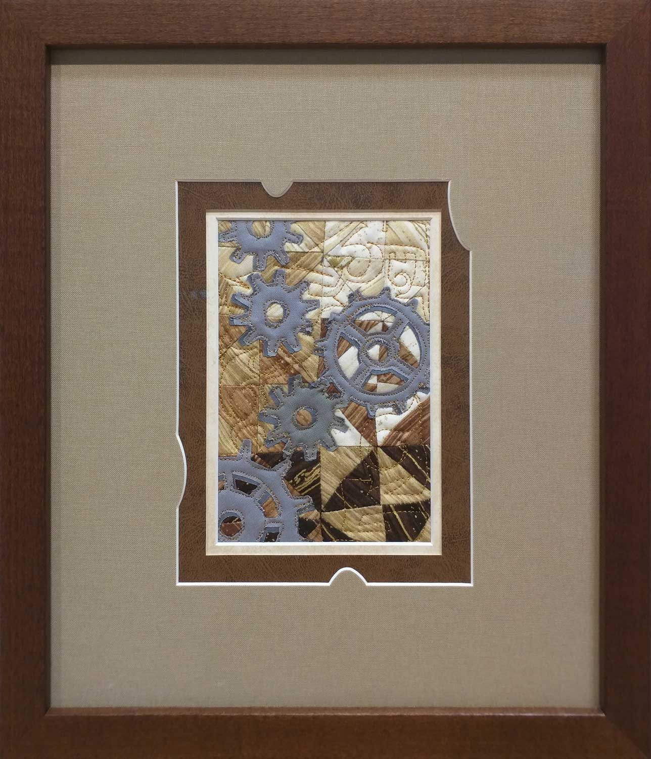 Rob Appell ( Man Sewing )  - 2017 Wish Upon A Card Fabric Post Card donation. Custom Framing by  High Desert Frameworks .