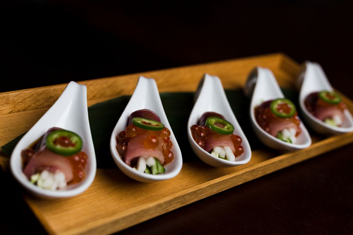 9. Sushi Azabu - Tucked under street level, this intimate spot features sushi crafted from fresh-from-Japan fish.
